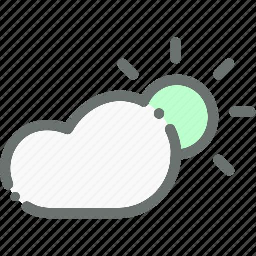 cloud, forecast, sun, sunny, weather icon