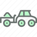 automobile, farm, load, transport, transportation, truck, vehicle icon
