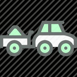 automobile, farm, load, transport, transportation, truck, vehicle icon