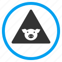 agriculture, alert, error, pig, pork, problem, warning icon
