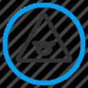 attention, caution, error, pig warning, piggy, pork hazard, risk icon