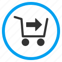 order, payment, purchase, shopping cart, store basket, transport, trolley icon
