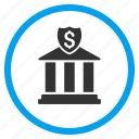 bank building, dollar, finance, financial center, market, money, payment icon