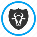 cow, guard, power, safety, security, shield, strong bull icon