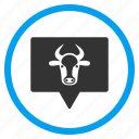 about, beef, bull, cattle, cow info, information banner, message icon
