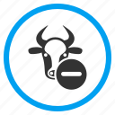 beef, bull, cow remove, delete, minus, no entry, ox icon