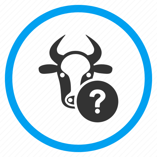 agriculture, cow, info, information, question mark, support, unknown status icon