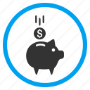 account, banking, deposit, finance, pig, piggy bank, savings icon