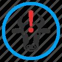 attention, bull alert, cattle, cow problem, danger, error, ox caution icon