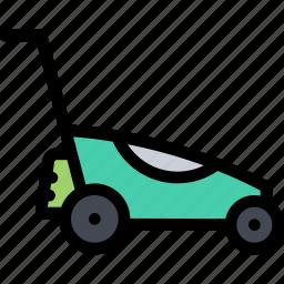 agriculture, farm, field, garden, lawn, mower icon