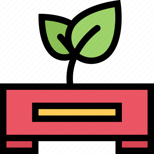 agriculture, farm, field, garden, sprout icon