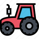 agriculture, farm, field, garden, tractor icon