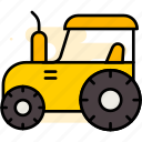 tractor, farming, agriculture, vehicle, cultivation