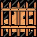 fence, barrier, yard, farm, wooden