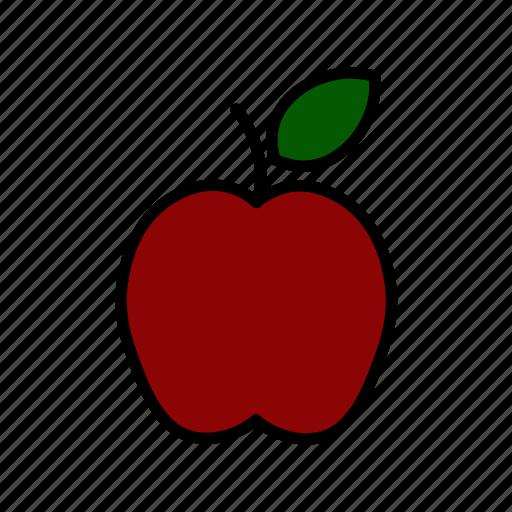 apple, diet, fresh, fruit, market, organic, vegan icon