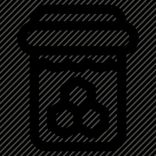 bottle, garden, honey, jam, jar, sweet icon