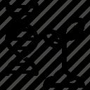 crop, dna, gmo, modified, plant icon