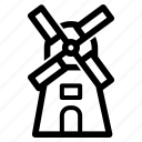 dutch, holland, mill, windmill icon