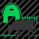 angus, barn, beef, cattle, cow, farm, grass icon