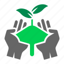 care, farming, harvest, organic, plant, planting, seedling icon