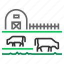 angus, barn, cattle, cows, farm, farming, grass icon