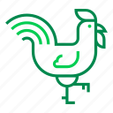 cock, farm, fowl, poult, rooster icon