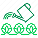 can, crop, farming, organic, vegetables, water, watering icon