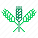 agriculture, crop, farming, grain, harvest, swath, wheat icon