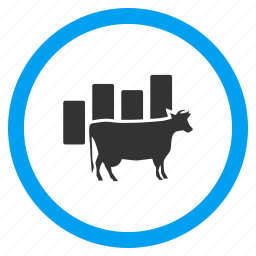 agriculture, analysis, bull, chart, cow stats, report, statistics icon