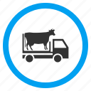 bull, car, cattle, cow wagon, transport, transportation, vehicle icon