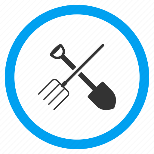 agriculture, equipment, fork, garden, gardening, service, shovel icon
