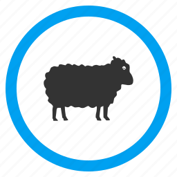 agriculture, animals, lamb, ram, sheep, veterinary, wool icon