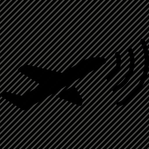 aircraft, airplane, awacs, radar, radio intelligence, signal, warfare icon