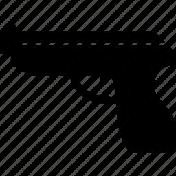 equalizer, gun, handgun, heater, military, piece, pistol, roscoe, weapon icon