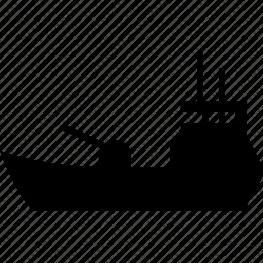 boat, coast guard, coastal command, coastguard, cutter, destroyer, fleet, marine, nautical, pirates, sea dog, ship, shipping icon