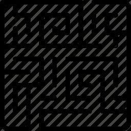 labyrinth, lost, maze, orientation, strategy icon