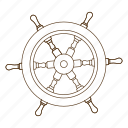 boat, pirate, rudder, ship, steer, wheel icon