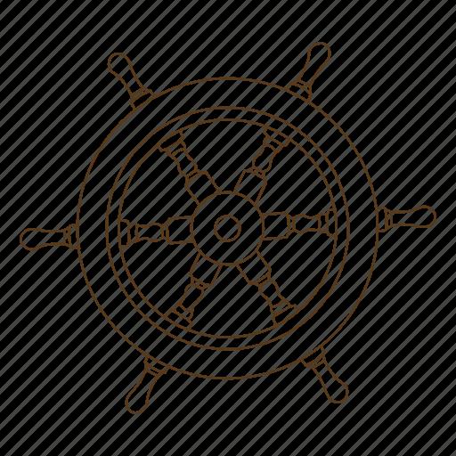 boat, pirate, rudder, ship, steer, wheel icon
