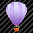 air, balloon, child, ornament, violet icon