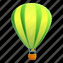 balloon, air, green, lime, heart icon