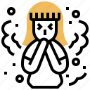 breath, dust, particles, pollution, smog icon