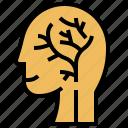 brain, head, blood, system, stroke icon