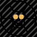 danger, harmful, skull, toxic, warning icon