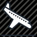 airplane, landing, transportation, travel