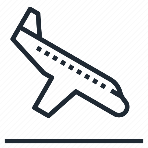 airplane, landing, transportation, travel icon