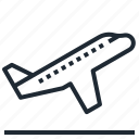 airplane, board, off, take, transportation icon