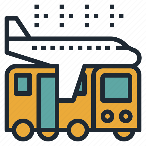 airport, bus, shuttle, transportation, travel icon