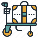 airport, bag, cart, luggage, trolley icon