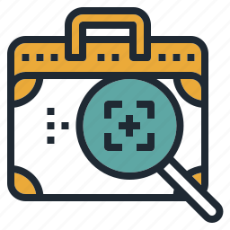 bag, inspection, investigation, scan, security icon