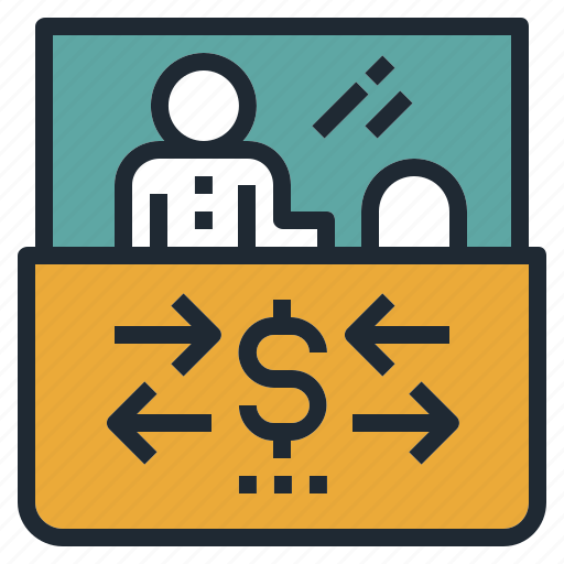 bank, currency, desk, exchange, money, rate icon